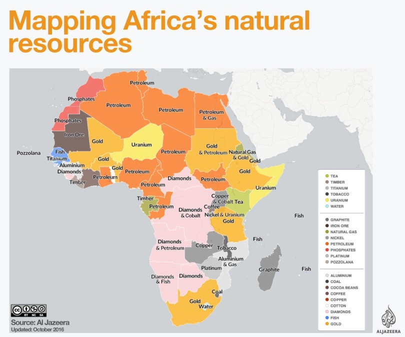 Mapping Africa's Resources - (c) Aljazeera